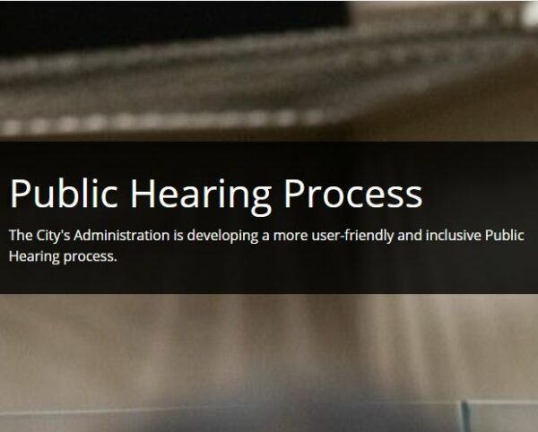 Public hearing process under review